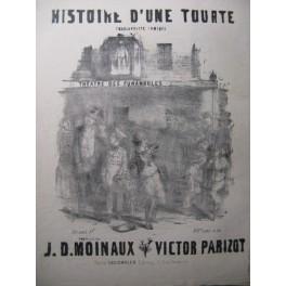 PARIZOT Victor Histoire d'une Tourte Chant Piano ca1855