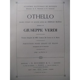VERDI Giuseppe Othello Opera 1887