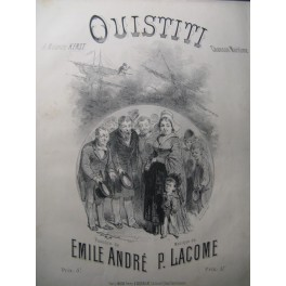 LACOME P. Ouistiti Chant Piano 1881