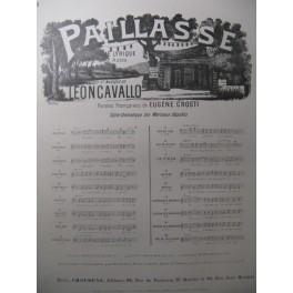 LEONCAVALLO Ruggero Paillase N° 9 Chant Piano 1893
