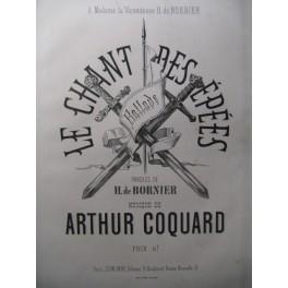 COQUARD Arthur Le Chant des épées Chant Piano ca1875