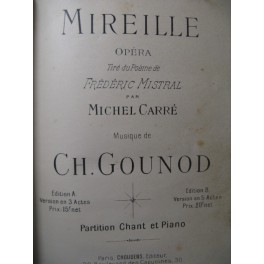 GOUNOD Charles Mireille Opéra Chant Piano