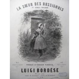 BORDÈSE Luigi La Soeur des Rossignols Chant Piano ca1850