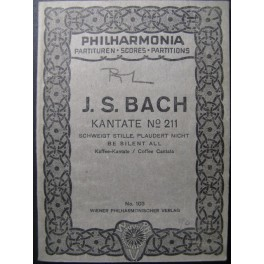 BACH J. S. Cantata n° 211 Chant Orchestre
