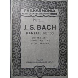 BACH J. S. Cantata n° 106 Chant Orchestre