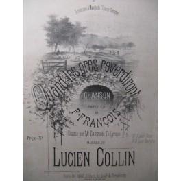 COLLIN Lucien Quand les Près reverdiront Chant Piano XIXe