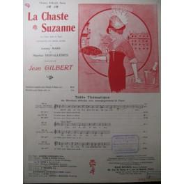 GILBERT Jean La Chaste Suzanne n° 2 Piano Chant 1913