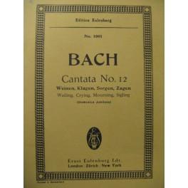 BACH J. S. Cantata n° 12 Chant Orchestre