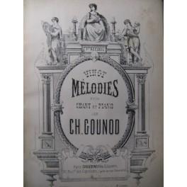 GOUNOD Charles Vingt Mélodies n° 1 Chant Piano ca1890