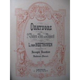 BEETHOVEN Quatuors Intégrale Violon Alto Violoncelle