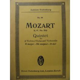 MOZART W. A. Quintet KV 593 Violon Alto Violoncelle
