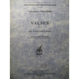 BRAHMS Johannes Valses Piano