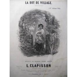 CLAPISSON L. La Dot de Village Chant Piano 1837
