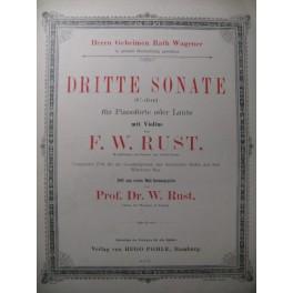 RUST F. W. Dritte Sonate Violon Piano ca1880