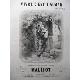 MALLIOT Vivre c'est t'aimer Chant Piano ca1850