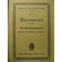 BEETHOVEN Streichquartett op. 131 Violon Alto Violoncelle
