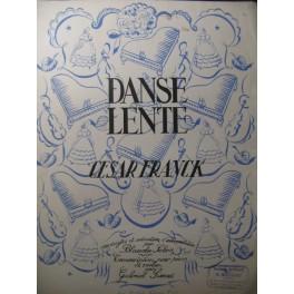 FRANCK César Danse Lente Piano 1947