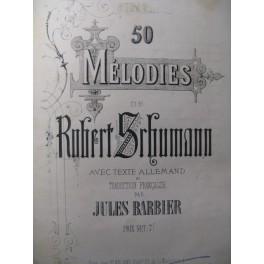 SCHUMANN Robert 50 Mélodies Chant Piano 1863
