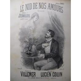 COLLIN Lucien Le Nid des nos Amours Chant Piano XIXe