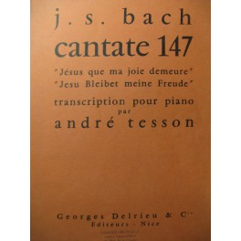 BACH J. S. Cantate n° 147 Piano
