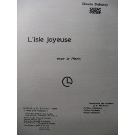 DEBUSSY Claude L'isle Joyeuse Piano 1956