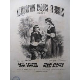 STREICH Henri Aujourd'hui Pâques Fleuries Chant Piano ca1850