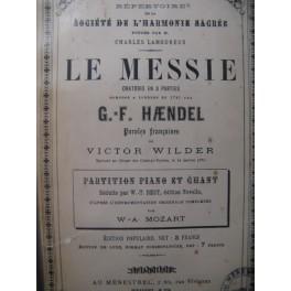 HAENDEL G. F. Le Messie Chant Piano ca1875