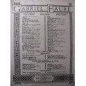 FAURÉ Gabriel Clair de Lune Chant Piano