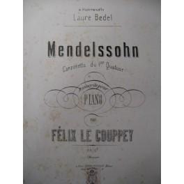 MENDELSSOHN Canzonetta Piano 1876