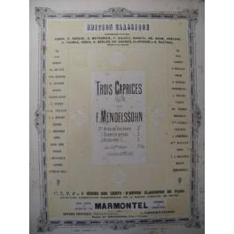 MENDELSSOHN Caprice op. 16 n° 1 Piano 1883