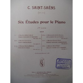 SAINT-SAËNS Camille Prélude et Fugue Piano 1899