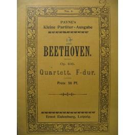 BEETHOVEN Quartett op. 135 Violon Alto Violoncelle