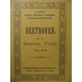 BEETHOVEN Quartett op. 95 Violon Alto Violoncelle
