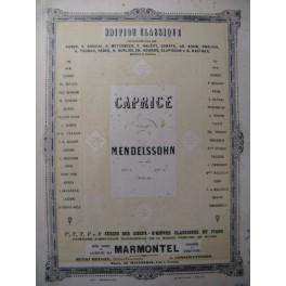 MENDELSSOHN Caprice op. 5 Piano XIXe