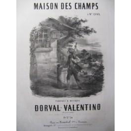 DORVAL-VALENTINO Maison des Champs Chant Piano 1857