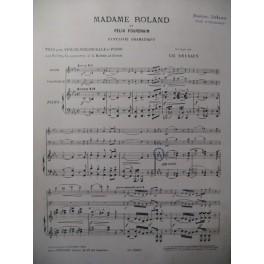 FOURDRAIN Félix Madame Roland Piano Violon Violoncelle Flute 1913