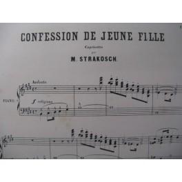 STRAKOSCH M. Confession de Jeune Fille Piano