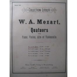 MOZART W. A. Quatuor n° 1 Piano Violon Alto Violoncelle