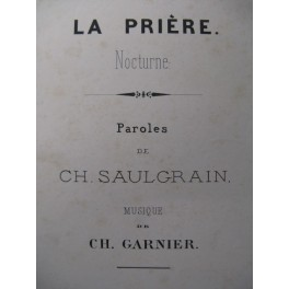 GARNINER Ch. La Prière Chant Orgue