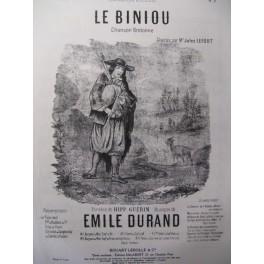 DURAND Emile le Biniou Chant Piano 1947