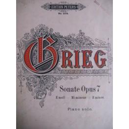 Grieg E. Sonate Op. 7