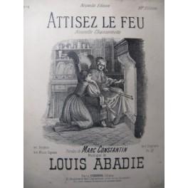 ABADIE Louis Attisez le Feu Chant Piano XIXe