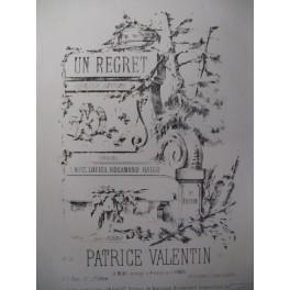 VALENTIN Patrice Un Regret Piano XIXe