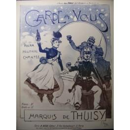 DE THUISY Marquis Garde à Vous Burret Chant Piano