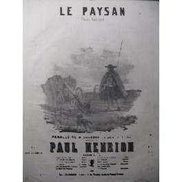 HENRION Paul Le Paysan Chant Piano XIXe