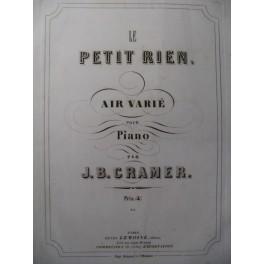 CRAMER J. B. Le Petit Rien Piano 1859