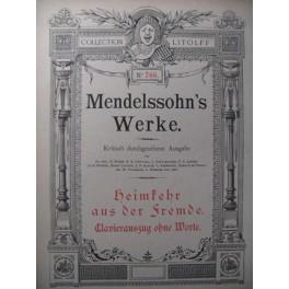MENDELSSOHN Le Retour au Pays Piano