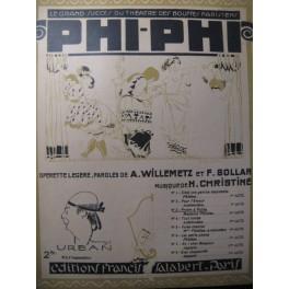 CHRISTINÉ H. Phi-Phi n° 3 Prière à Pallas Chant Piano 1918