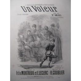 GOUBLIER R. Un Voleur Chant Piano XIXe
