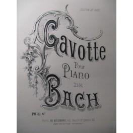 BACH J. S. Gavotte Piano XIXe